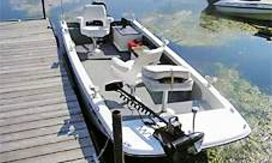 14' Jon Boat Fishing Trips In Rideau Lakes, Canada