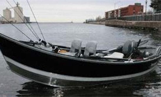17' Bass Boat Fishing Trips In Sherburne, New York