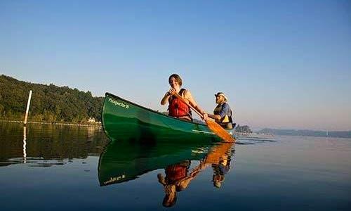 Tandem Canoe Rental On Moose River