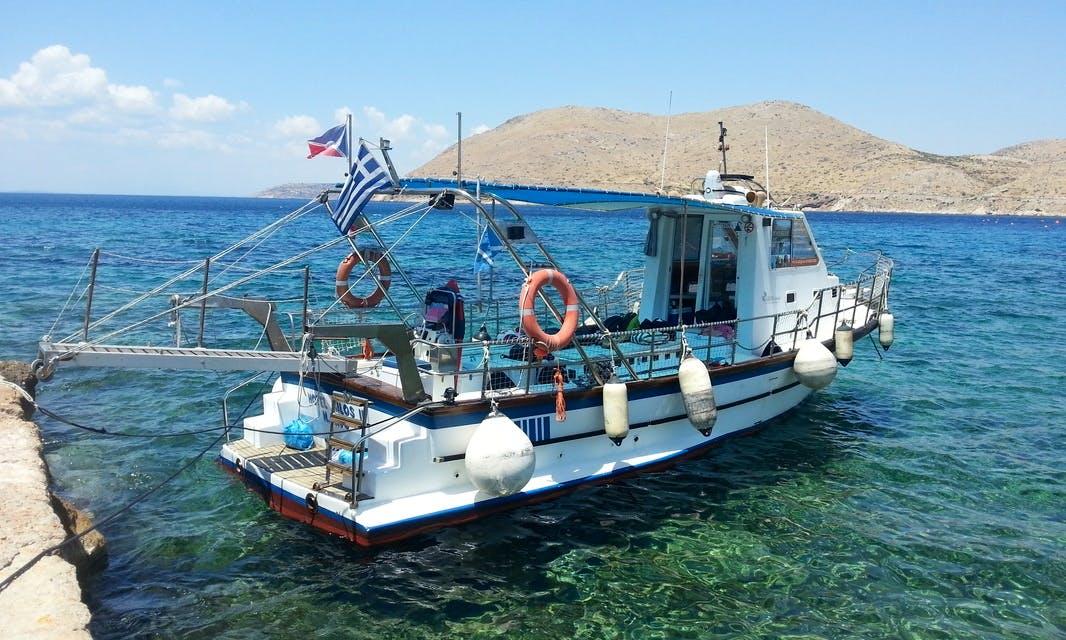 """Passenger Boat """"HOTEL MILOS II"""" Trips in Nisi, Greece"""