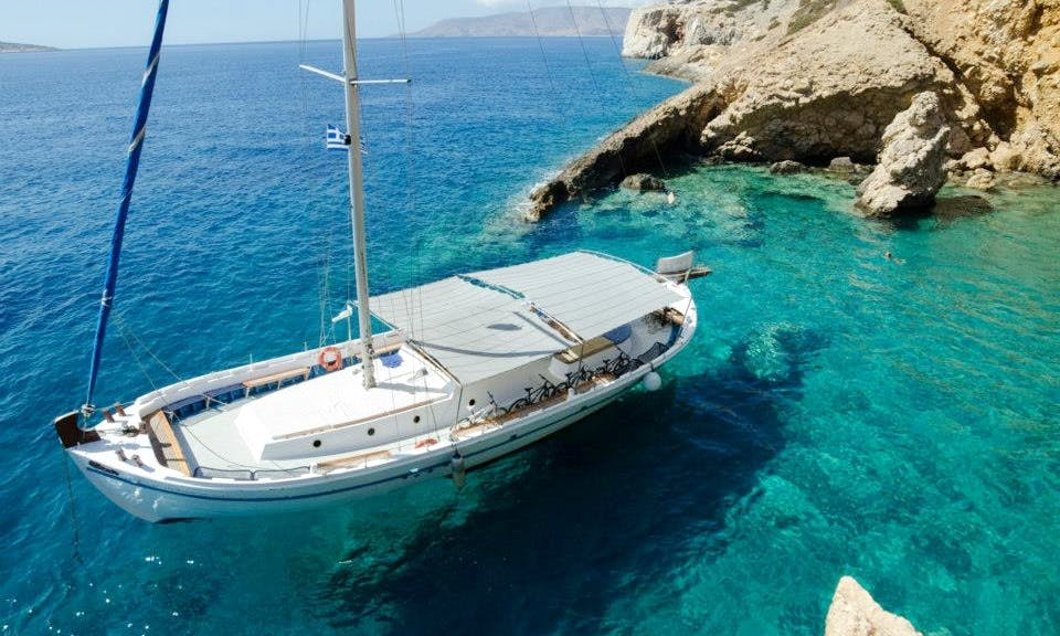 "65' Sailing Mega Yacht ""Agios Georgios"" Trips in Paros, Greece"