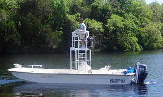 Affordable Guided Fishing Trips on 24' Carolina Skiff Boat in Florida