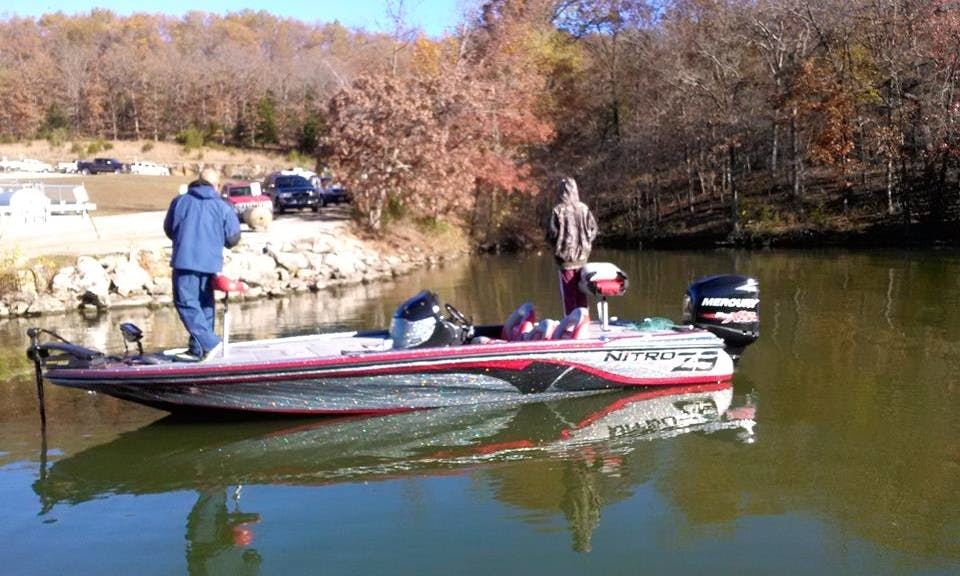 Bass Boat Fishing Guide Trips in Osage Township