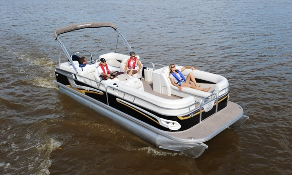 images of princecraft pontoon boat