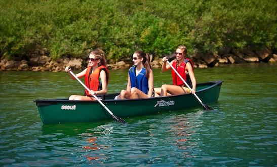 Rent 3 Seater Canoe In Center Grove