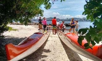 Canoe rent or lessons wa'a kaulua double hulled in Niterói