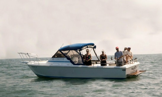 30' Sport Fishing Charter In Kelleys Island