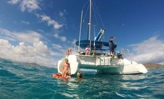 Cruising Catamaran Tours In Fuerteventura, Spain