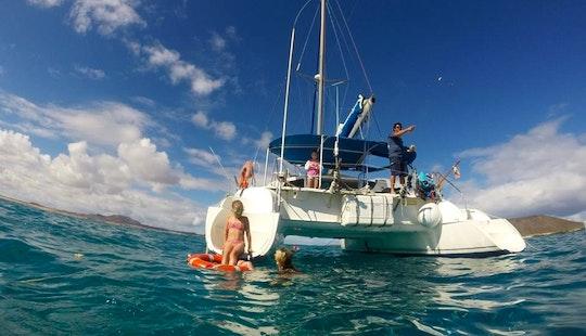 Cruising Catamaran Tours In Fuerteventura, Spain