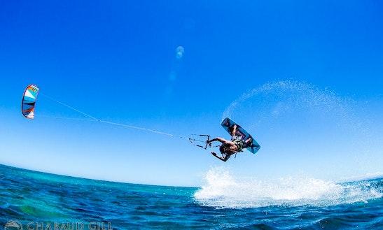 Kiteboarding In Nessadiou, New Caledonia