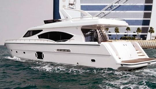 Dubai Palm Cruising With Fishing - 50 Feet Luxury Yacht