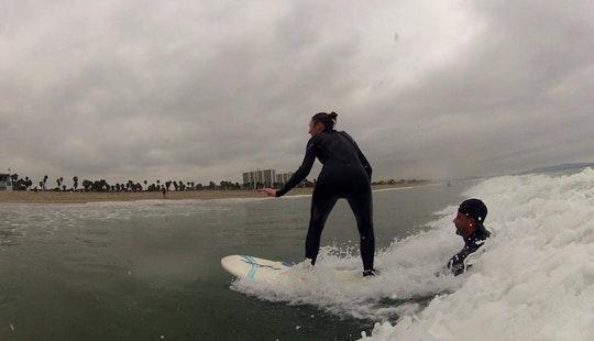 Learn Surfing In The Beautiful Beach Of Santa Monica