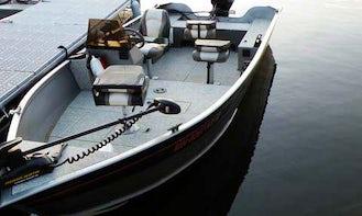 Rent 16' Deluxe Yukon Alumacraft Boat in Voyageurs National Park - Lake Kabetogama, MN