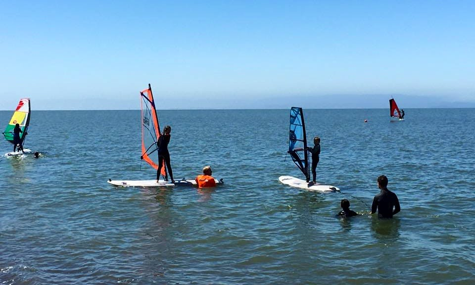 Learning the Basics of Windsurfing in Alameda