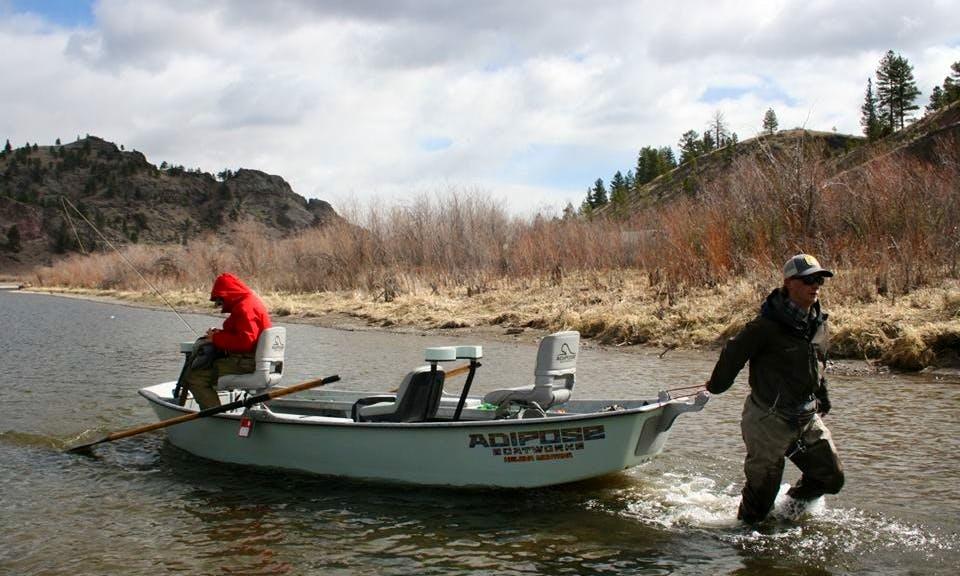 Guided Fishing Trips On 16' Drift Boat In Big Sky, Montana