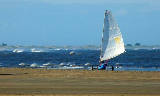 Windcar (ii), Similar To Iceboat, In Cassino, Rio Grande Do Sul