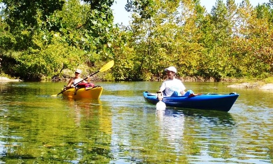 Amazing 4 Miles Guided Kayak Trips On James River In Cass Township, Missouri