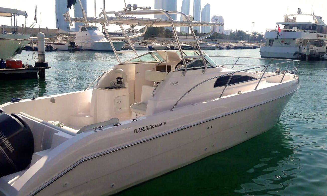 "Abu Dhabi Fishing Charter On 33ft ""Alpha"" Silvercraft Yacht"