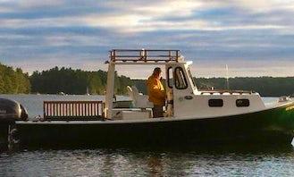 24ft Seaway Down east Lobster Yacht Rental in Whitefield, Maine