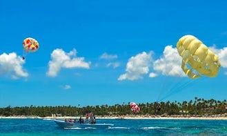 Parasailing in Punta Cana, Dominican Republic