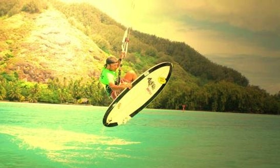 Kiteboarding In Moorea, French Polynesia