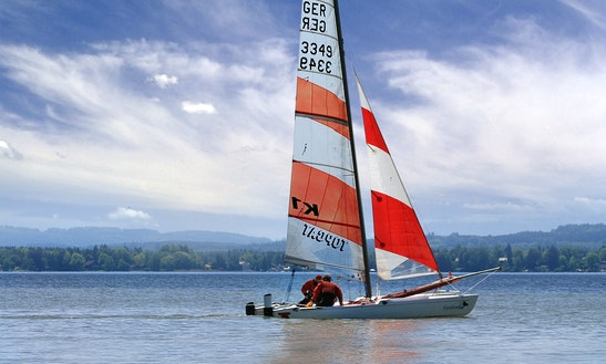 18ft Topcat K1 Classic Beach Catamaran Rental In Pavilosta, Latvia