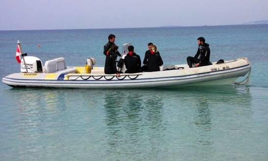 24' Rib Diving Trips In Naxos, Greece