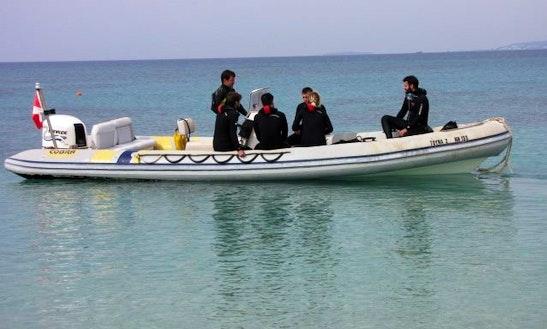 24' Rib Diving Trips In Naxos, Greece