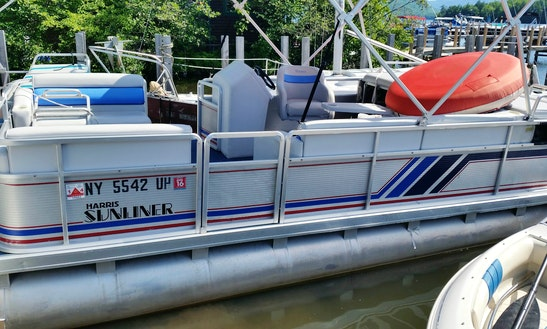 Harris Sunliner Pontoon 50hp Rental In Lake George