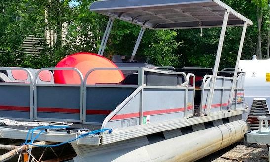 Aluminum Pontoon 50hp Rental In Lake George