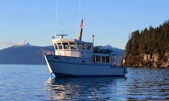 50' Trawler Charter in Whittier, Alaska