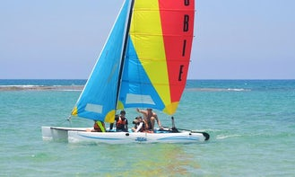 Sailing Catamaran in sdot yam