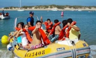 Rent 19' Semi-Rigid Speedboat In Chiclana de la Frontera