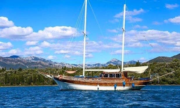 Dus Zamani Gulet charter in Montenegro and South Dalmatia