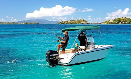 'isa' Boat, Private Lagoon & Reef Fishing In Bora Bora