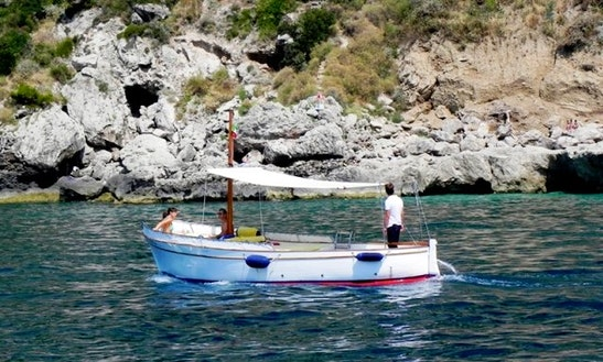 Rent The 19ft Gozzo Sorrentino Sailing Boat Tour From Sorrento, Italy