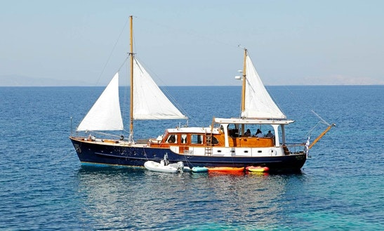'rota Ii' Motorsailer Day Cruises  Charter In Greece