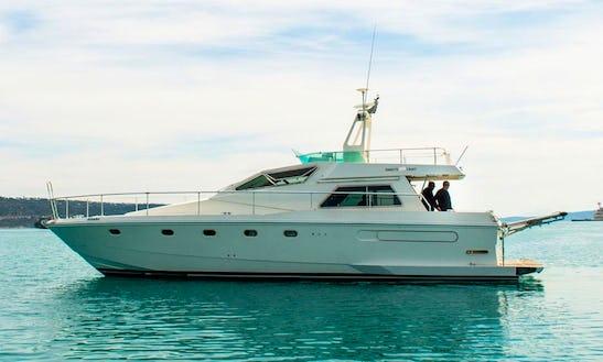 'gialo' Ferreti Altura 50f Yacht Charter In Chania