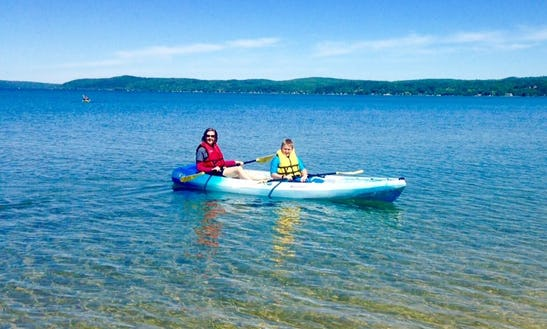 Double Kayak Rental & Pickup In Benzonia Township