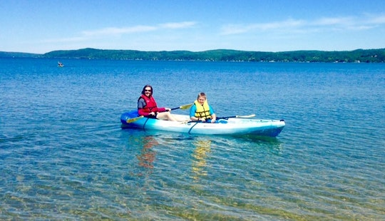 Double Kayak Rental & Pickup In Benzonia Township