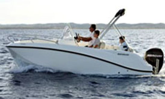 2-4 Person Quicksilver 505 Open Deck Boat For Rent In Großenbrode, Germany