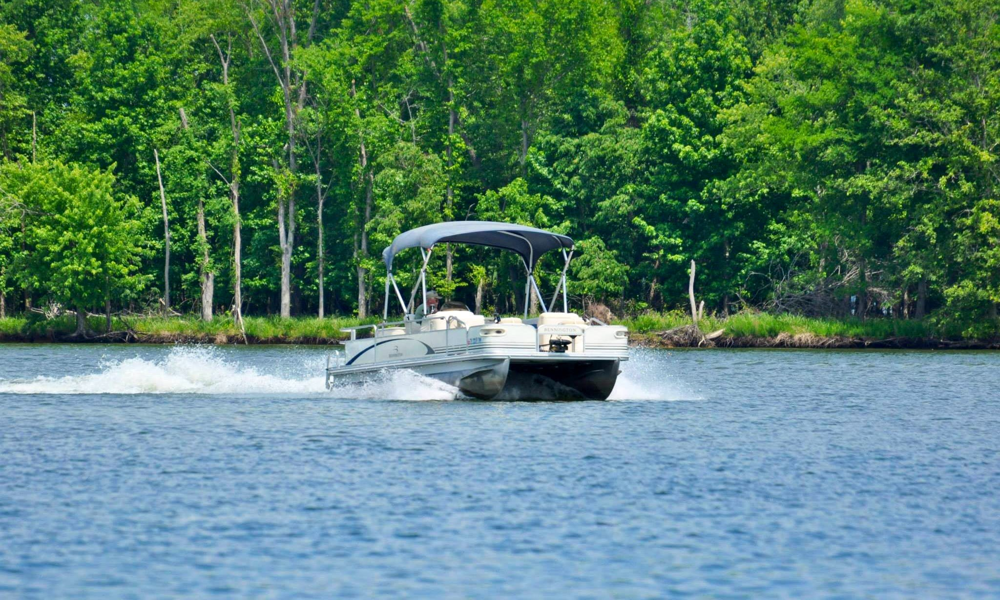 Fishing Pontoon 50hp Rental in Camden