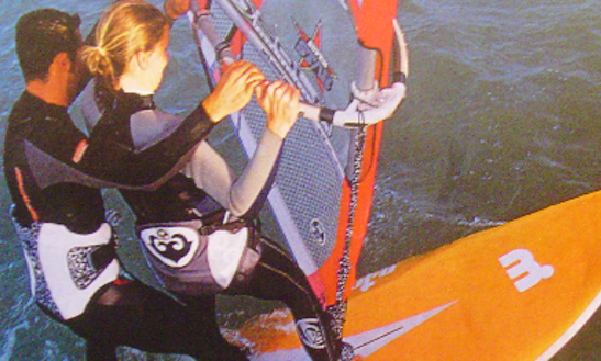 Windsurfing In Leon, France