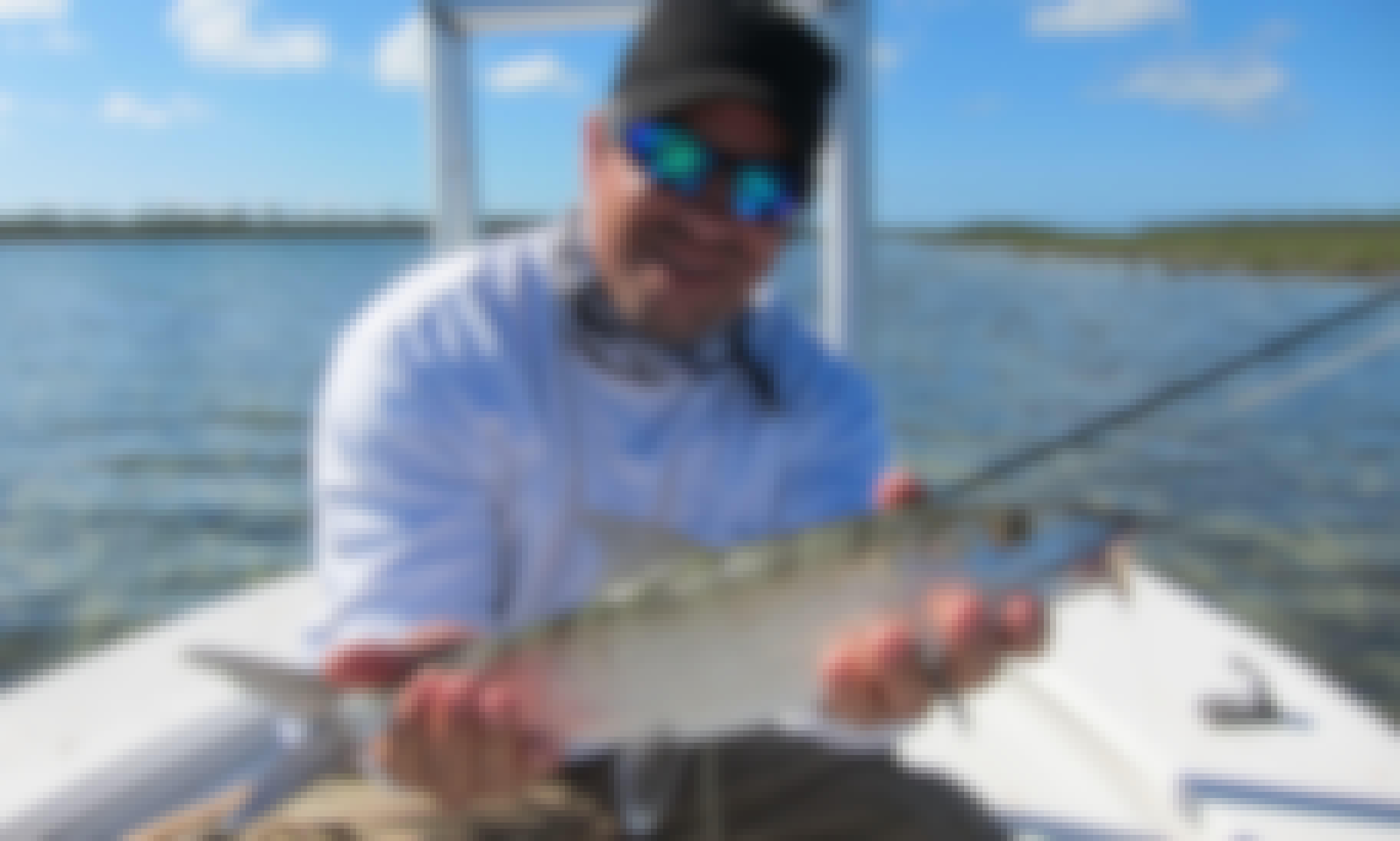 Fishing Charter On 17' Mavericks Flat Skiffs Boat With Captain Phil