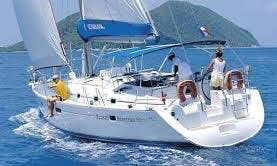 Sailing Lessons on a 33' L'Heure Bleue Cruising in Ajaccio, France