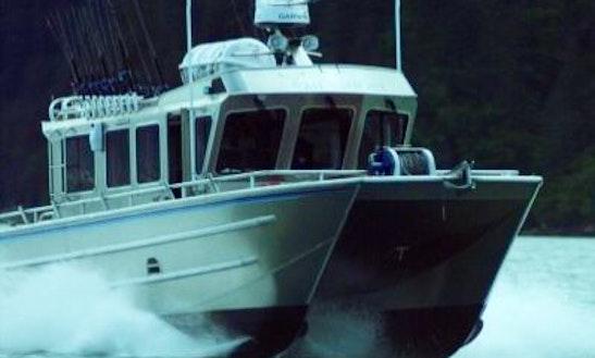 40ft Armstrong Marina Catamaran Boat Charter In Seward, Alaska