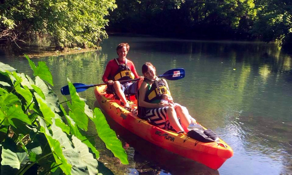 double kayak rental with skilled instructors in san marcos texas