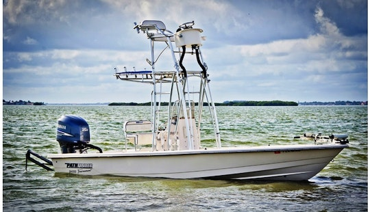 24ft Pathfinder Center Console Boat Fishing Charter In Port Canaveral, Florida