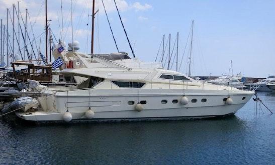 'm/y Anemos' Ferretti 60 Yacht Charter In Santorini