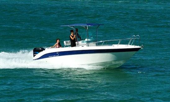 Oliaros 8 Center Console Boat Rental In Paros